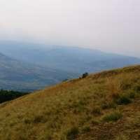 vedere Valea Bargaului de pe Muntele Heniu